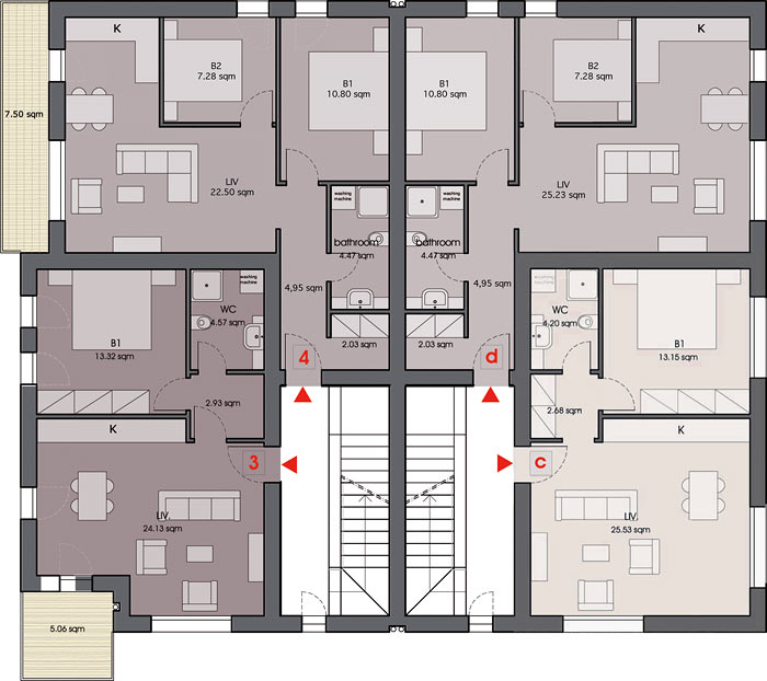Amadeo II first floor plan