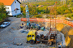 Drilling boreholes for Amadeo II