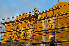 Doing facade on the west side