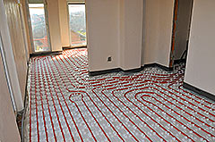 Installation of Rehau underfloor heating system