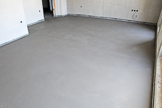 The screed once finished