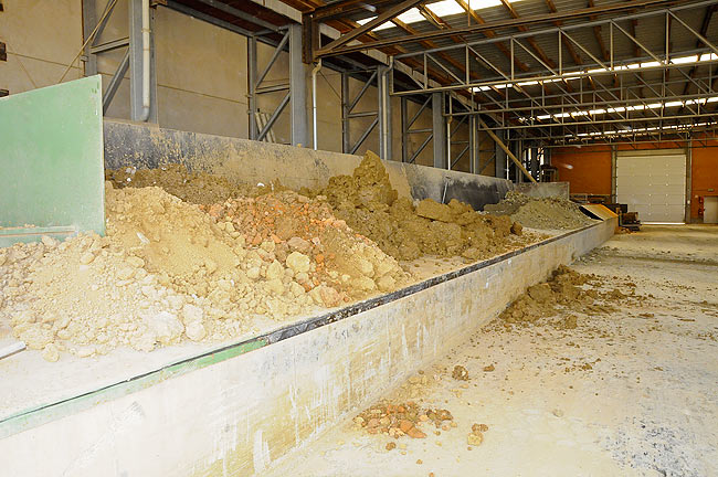 Raw materials put together before processing