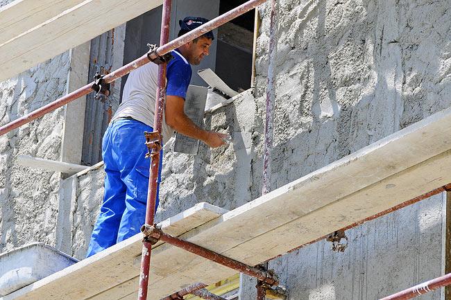 Перлитовая штукатурка для фасадных работ своими руками 98