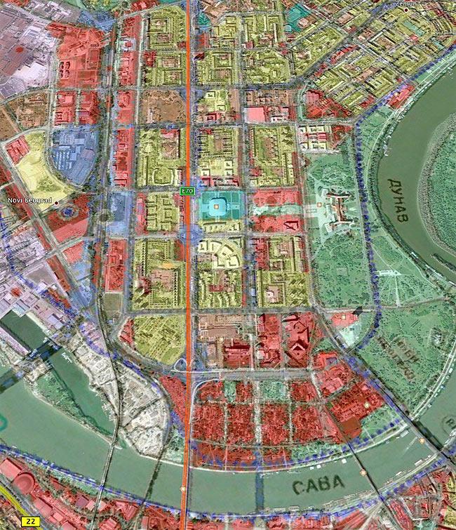 karta beograda novi beograd Beodom | Generalni plan Beograda do 2021 kakvog do sada niste videli karta beograda novi beograd