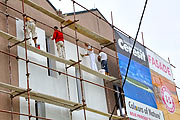 Making a thermal facade on Klimabloc with perlite and Ceresit plaster