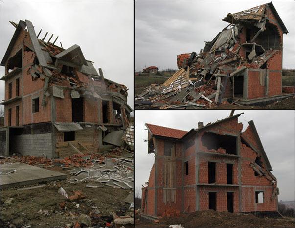 Ilegalna kuće srušena od strane nadležnih organa (slikao Beodom)
