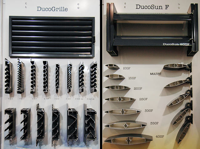 DucoGrille (Industrial demanding ventilation system) and DucoSun (sun control and protection)
