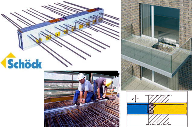 Schöck Isokorb® for the prevention of thermal bridge on balconies or terraces