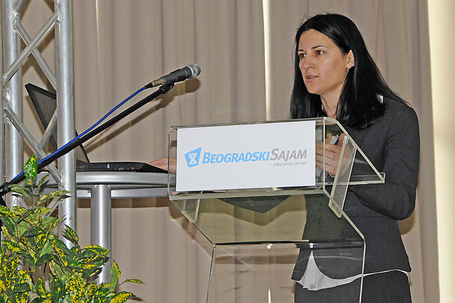 Milena Gojković-Mestre speaking at the conference SEEBBE 2010 - 1