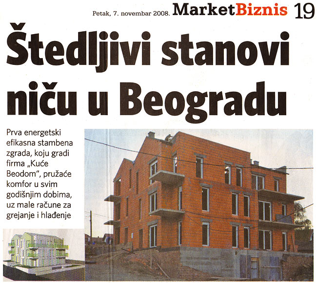 "Biznis: ""Apartments saving energy are emerging in Belgrade"" 01"