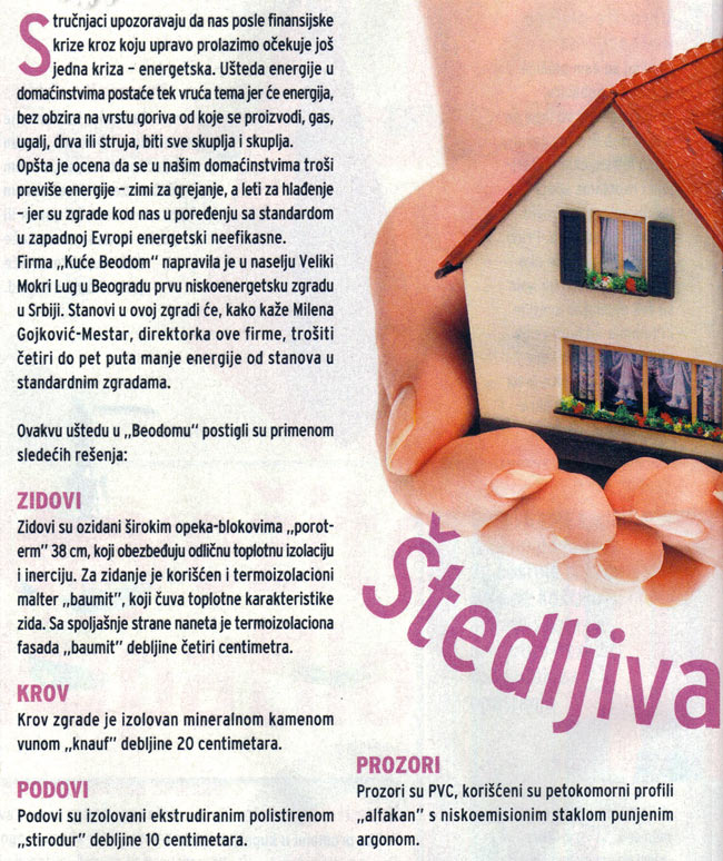 "Blic Žena: ""Building that saves energy"" 01"