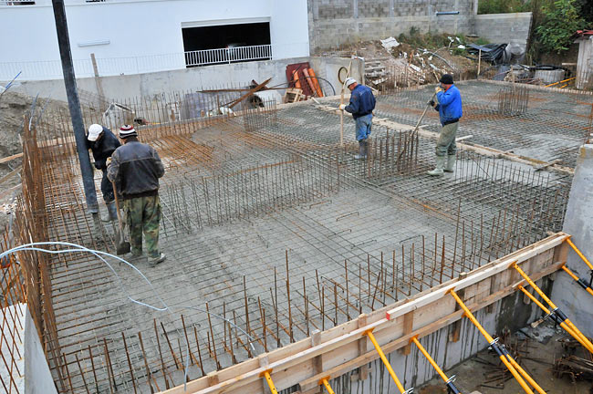 Pouring Concrete On Amadeo Ii Base Slab 2