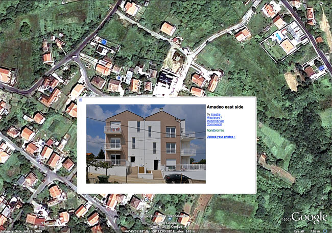 Slika   Amadea u Google Earth - 2