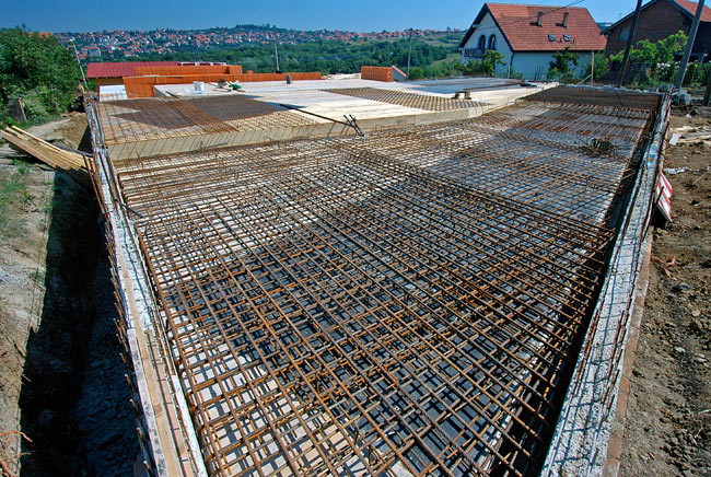 Reinforced Concrete Slab : Beodom making of amadeo second ground floor armed