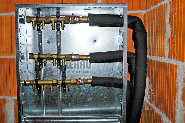 Beodom installation of rehau plumbing and underfloor