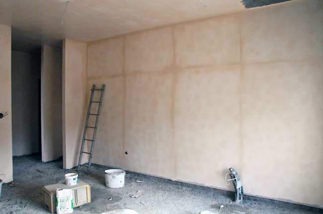 Gypsum Wall Board ~ Beodom finishing the interior walls with cement plaster