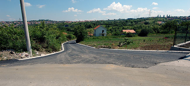 Finished northeast road connecting Amadeo