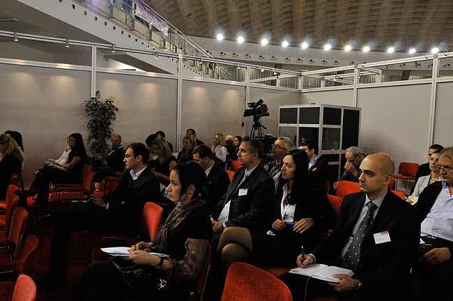 The audience during the talk at the BelRE 2008 conference