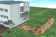 Low-temperature floor heating system powered by a geothermal heat pump for Amadeo!