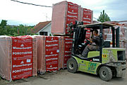 Kuće Beodom received the first shipment of Wienerberger POROTHERM