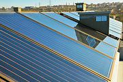Installation of Rehau SOLECT thermal solar panels on Amadeo's roof