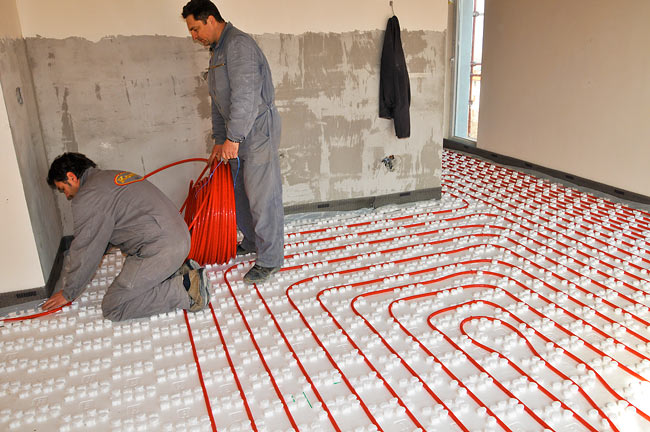 Rehau Underfloor heating installation